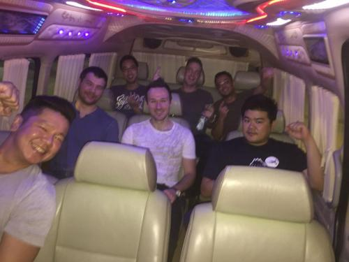 bachelor party mini van