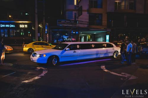 beautiful white limousine bangkok